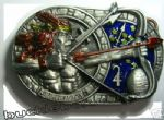 SAGITTARIUS THE ARCHER, ZODIAC HOROSCOPE SIGN BELT BUCKLE + display stand. Code ED1